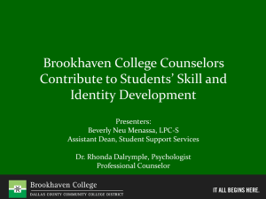 Brookhaven College Counselors Contribute to Students* Skill and