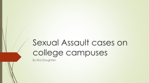 Sexual Assault cases on college campuses