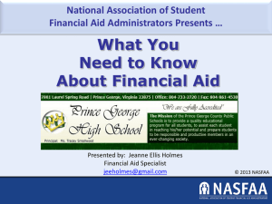 What You Need to Know About FINANCIAL AID PowerPoint