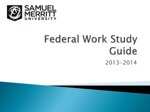 What is Federal Work Study?