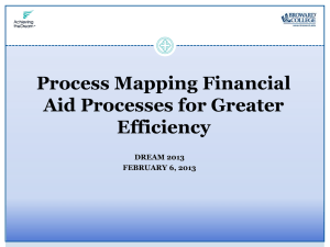 Process Mapping Financial Aid Processes for Greater Efficiency