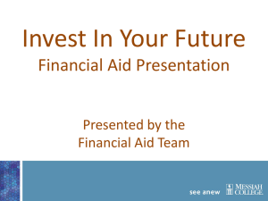 Financial Aid - Messiah College