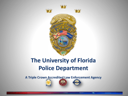 Presentation by University Police Department