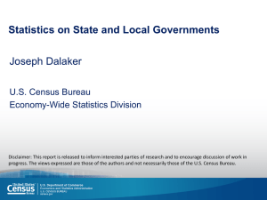 Statistics on State and Local Governments