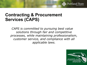 Contracting & Procurement Services