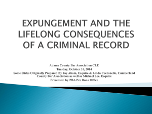 Expungement Powerpoint