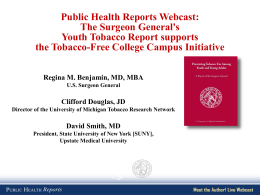 Webcast Powerpoint - Public Health Reports
