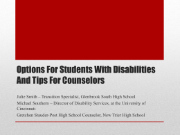 Options for Students with Disabilities–CHOICES