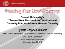 Institutional Diversity Plan to Address Gender Diversity