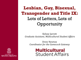Lesbian, Gay, Bisexual, Transgender and Title IX