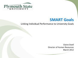 SMART Goals Tips - Plymouth State University
