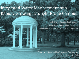 Integrated Water Management at a Rapidly Growing