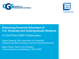 Lunch with a Panel on Student Financial Literacy