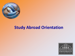 Study Abroad Orientation Session PowerPoint 2014