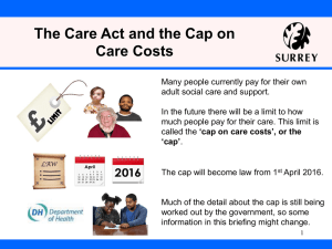 The Care Act and the Cap on Care Costs