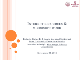 Internet resources & microsoft word Roberto Gallardo