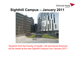 Sighthill Campus - Napier Students` Association