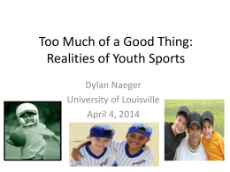 The Youth Sports Conundrum: Going from *Can we go and