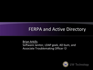 FERPA and Active Directory