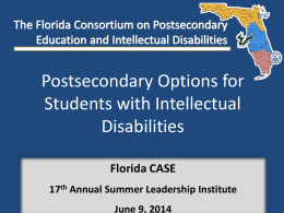 Postsecondary Options for Students with Intellectual