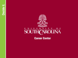 Anthropology - University of South Carolina