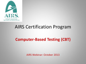 AIRS Certification Program