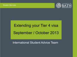 The International Student Advice Team