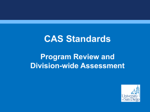 USD Using CAS for A Division-wide assessment