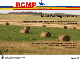 RCMP - Alberta Association of Police Governance