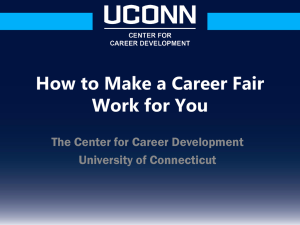 presentation online - UConn Center for Career Development