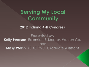 Serving My Local Community - Indiana 4-H
