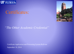 The Other Academic Credential