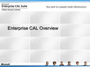 Enterprise CAL Overview - ties