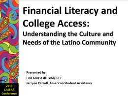 Financial Literacy and College Access: Understanding the