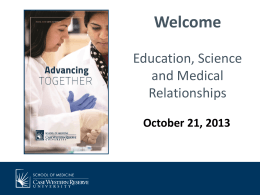 Chris Masotti: Education, Science and Medical Relationships