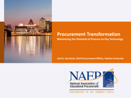 Jack Zenchek - Procurement Transformation