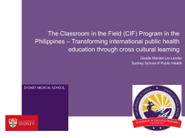 (CIF) Program in the Philippines