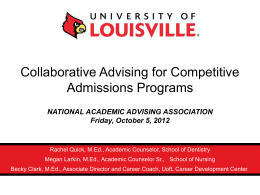 Collaborative Advising for Competitive Admissions Programs