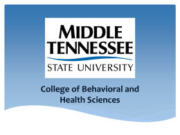 Behavioral and Health Science