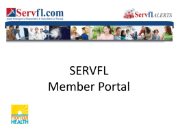 Member Portal Power Point