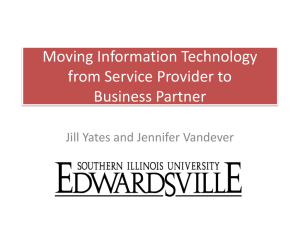 Moving IT from Service Provider to Business Partner