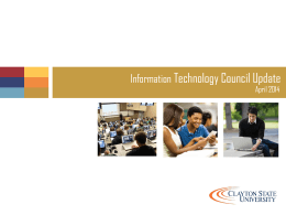 ITC Annual Report - Clayton State University