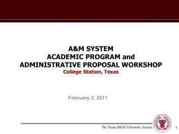Degree Programs - The Texas A&M University System