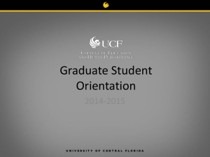 Graduate Orientation - College of Education
