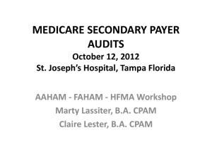 SURVIVING MEDICARE SECONDARY PAYER
