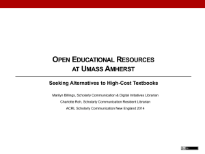 UMass_OER_Fall2014 - ACRL New England Chapter