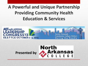 Partnerships to Provide Community Health and Wellness Education