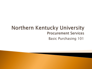 FY 14 Training Slides - Procurement