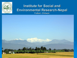 ISER_Presentation - Institute for Social and Environmental