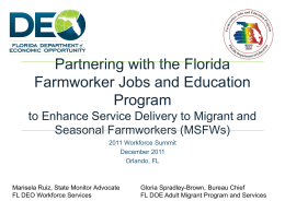 Partnering with the Florida Farmworker Jobs and Education